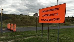 Le prolongement de l'autoroute 73 fait partie des priorités en Beauce.
