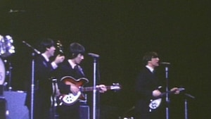 Image tirée d'une vidéo des Beatles en concert à Montréal et qui sera mise en vente aux enchères