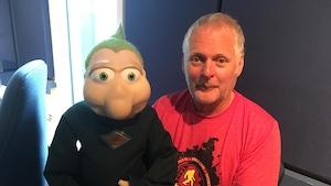 Le célèbre Bibi et son marionnettiste, Michel Ledoux.