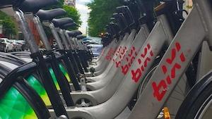 Des vélos en libre-service Bixi