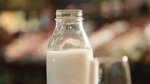 Une bouteille de lait