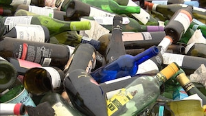 Des bouteilles de verre