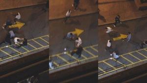 Des images tirées de la vidéo de surveillance présentée en cour