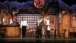 Marcel Gauthier, Michel Côté et Marc Messier dans la pièce « Broue »