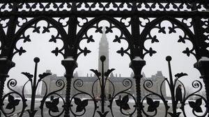 Le Parlement d'Ottawa, en hiver