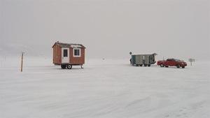 Des cabanes de pêche