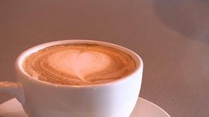Un café latté