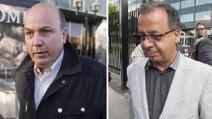 Montaphe photo de deux accusés dans l'affaire Faubourg Contrecoeur, Frank Zampino (à gauche) et Paolo Catania (à droite)