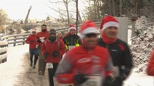 Course du père Noël dans l'arrondissement de Jonquière