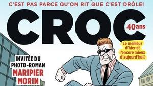 La couverture du numéro spécial de « Croc » pour les 40 ans du magazine.