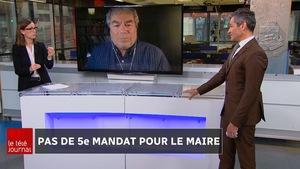 Louise Boisvert et François Bourque, en visioconférence, discutent avec Bruno Savard sur le plateau du Téléjournal Québec.