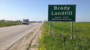 Panneau du dépotoir Brady