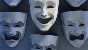 Des masques de théâtre qui montrent la gamme des émotions