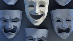 Des masques de théâtre pour montrer la gamme des émotions
