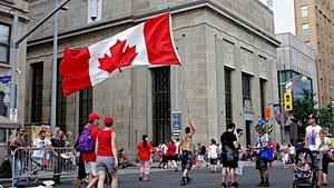 La fête du Canada sur la colline du Parlement, à Ottawa.