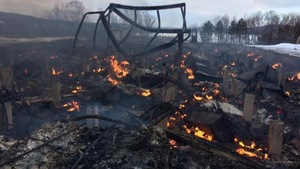 L'école primaire Bay d'Espoir Academy à Milltown, Terre-Neuve-et-Labrador, a été ravagée par les flammes mardi.