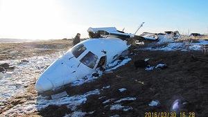 La carcasse de l'avion