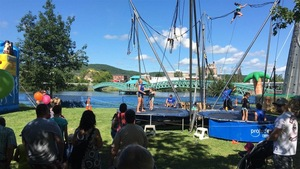 Spectacle de trampoline