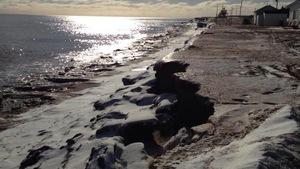 L'érosion fait des ravages à Cap-Bateau, au Nouveau-Brunswick.