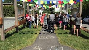 Un espace en l'honneur de Sarah-Eve Fontaine a été dévoilé à Windsor.