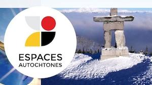 Le logo d'Espaces autochtones, un lieu d'information et d'échange en français sur les réalités des différentes communautés autochtones.