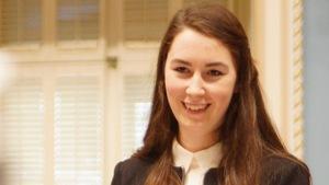 Éva Paquin-Lefebvre était whip en chef des Bleus à l'opposition lors du dernier parlement étudiant.