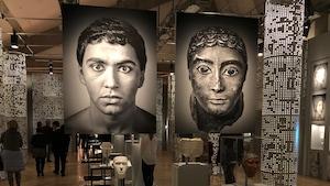 Salle de l'exposition Mon sosie a 2000 ans au Musée de la civilisation
