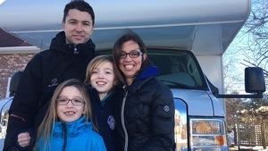 La famille Haché-Boucher à quelques heures du départ.