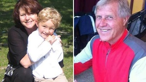 Kathy Liknes, son petit-fils, Nathan O'Brien, et son mari, Alvin Liknes