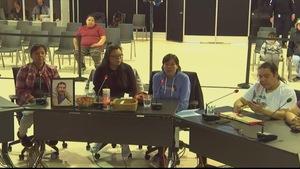Les enfants de Paul-Joseph Pinette témoignent devant la Commission Viens à Maliotenam.