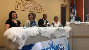 La conférence de presse de l'organisation du Festival des glaces de Saint-Gédéon.