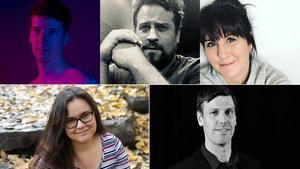 Montage photo des cinq finalistes.