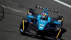 Le Suisse Sébastien Buemi durant les qualifications de l'ePrix de Paris, au mois de mai.