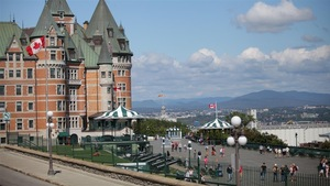La terrasse Dufferin et le chateau Frontenac.