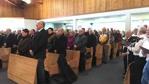 La foule dans l'église Saint-Jérôme à Shippagan