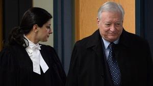 L'ancien maire de Laval, Gilles Vaillancourt, à son arrivée au palais de justice de Laval