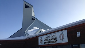 Le bureau du gouvernement de la Nation crie, à Nemaska en Eeyou Istchee, baie James, Québec