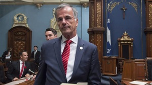 Guy Ouellette, député indépendant de Chomedey, à l'Assemblée nationale du Québec le 31 octobre 2017
