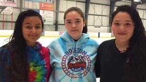Saige McKay, Shayna Moore et Carrigan Umpherville