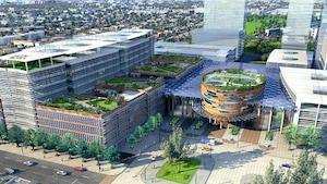 Une représentation du nouvel emplacement de l'Hôpital Saint-Paul, dans l'est de Vancouver.