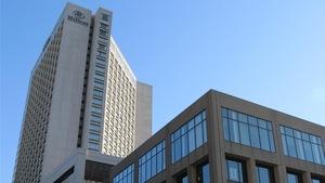 L'hôtel Hilton de Québec.