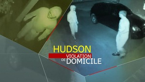 Des images captées par une caméra de vidéosurveillance montrant deux jeunes cambrioleurs a Hudson.