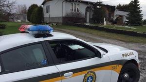 La Sûreté du Québec est sur lieux d'un incendie d'une résidence à Wickham.