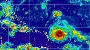Image satellite de l'ouragan Irma, fournie par les autorités américaines