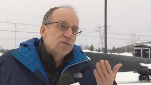 Jean Anderson, président de l'Association des coureurs en canot à glace