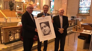 Réjean Lessard, Jean Tremblay et Mgr André Rivest