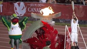 Cérémonie d'ouverture des Jeux du Canada de 2013 à Sherbrooke.