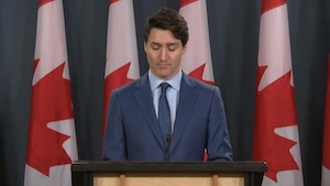 Justin Trudeau en conférence de presse