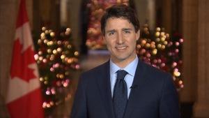 Le premier ministre Justin Trudeau présente ses vœux de Noël.