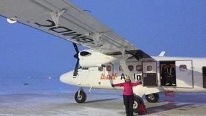 Avion King Air, 8 août 2016 – à l'Aéroport de Kuujjuaq.